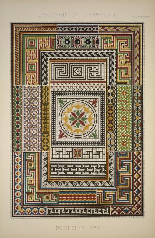 Image ID: 1540545    Pompeian no. 3: Mosaics from Pompeii and the museum at Naples. (1856)