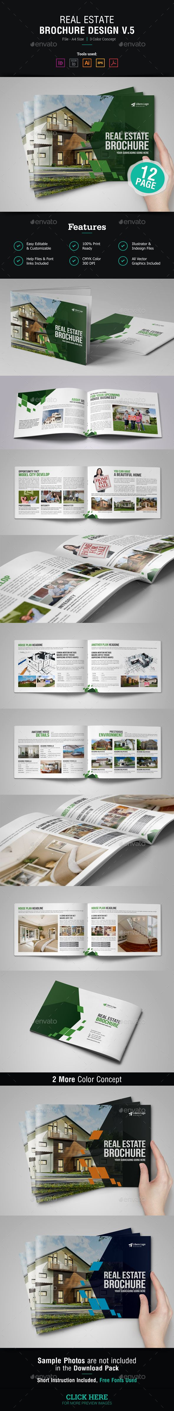 """12 page Real Estate Brochure Design v5. Ready to use for : """"Real Estate project, Property Sale, Property Rent or Business"""" Brochure and Catalog Template etc. Tools Uses : -> Adobe InDesign : INDD for CS5 version and IDML for InDesign CS4 & lower version. -> Adobe Illustrator : AI, EPS and PDF version. -> So all files are Fully Editable. Also help Notepad file """"Readme"""" included. Template Info : -> Easy to Changing Photos, Help """"Read Me"""" included. -> A4 Size : 216×303 mm in with 3mm bleed…"""