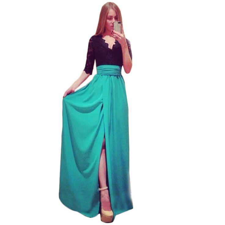 Yaz Elbise Artı Boyutu Giyim Maxi Elbise Uzun Yeni 2015 Yaz Seçimi Yan Bölünmüş Elbiseler Splayslanmış Bandaj Vestidos Elbiseler C170 - http://www.geceelbisesi.com/products/yaz-elbise-arti-boyutu-giyim-maxi-elbise-uzun-yeni-2015-yaz-secimi-yan-bolunmus-elbiseler-splayslanmis-bandaj-vestidos-elbiseler-c170/