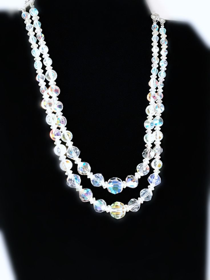 Just launched! Vintage Two Strand Aurora Borealis Graduated Crystal Beaded Necklace https://www.etsy.com/listing/496348533/vintage-two-strand-aurora-borealis?utm_campaign=crowdfire&utm_content=crowdfire&utm_medium=social&utm_source=pinterest