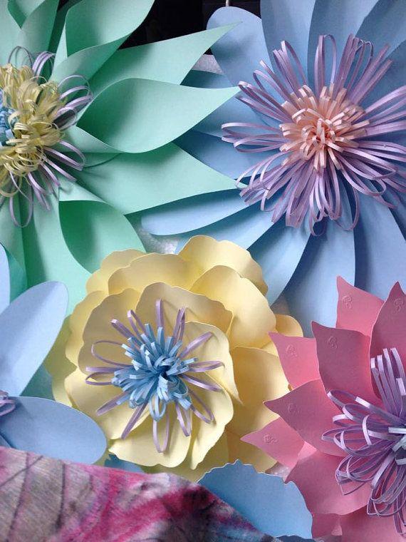 Пастельные Свадьбы. Бумага пастельных цветов по PaperFlowerWedding на etsy
