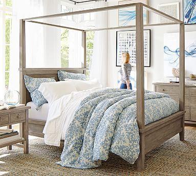 Farmhouse Canopy Bed #potterybarn