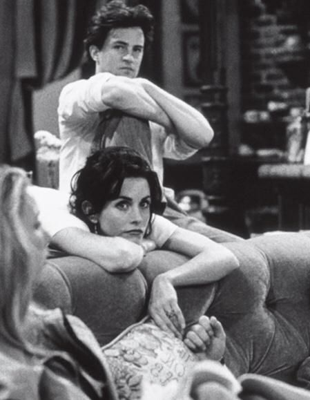 Beautiful #Matteney behind the scenes photo from FRIENDS.