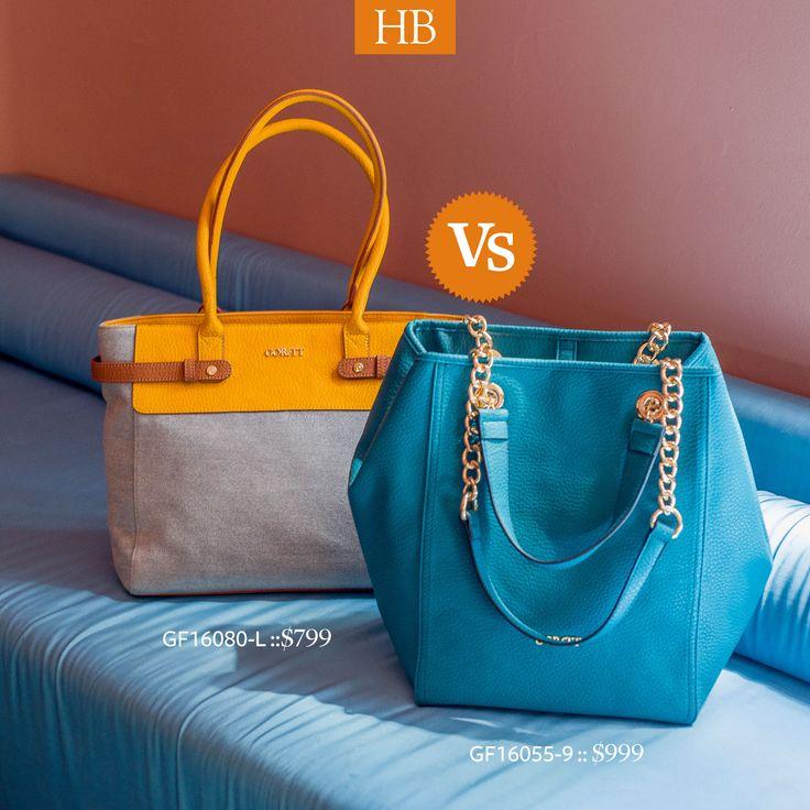#MalaSuerteEs no poder elegir entre el bolso Amarillo o el Azul para este fin de semana. ¿Tu cuál elegirás? #HB® #OtoñoInvierno #FW 2016.