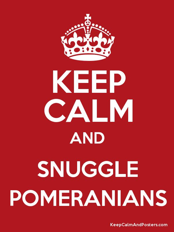 Keep Calm and Snuggle Poms - for V