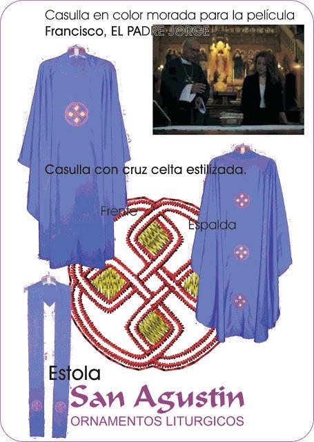 """San Agustin Ornamentos Litúrgicos - Argentina: Casulla morda confeccionada para la pelicula """"Fran..."""