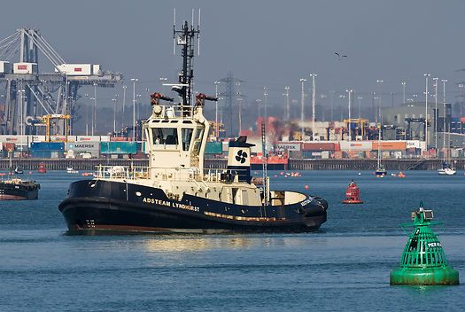 The Svitzer Towage tug 'Adsteam Lyndurst' in the Port of Southampton