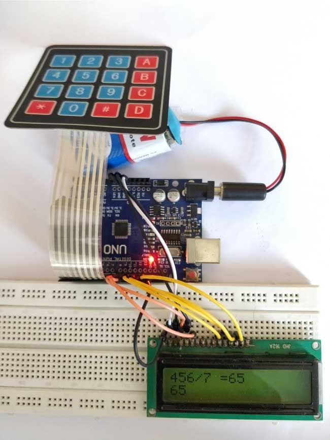 Arduino Calculator using 4x4 Keypad Hardware Implementation