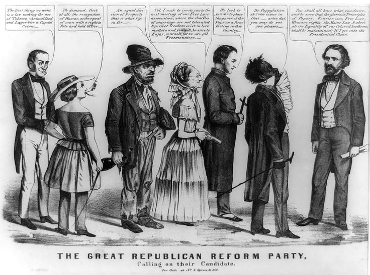 1856 Fremont Portrayed As The Champion Of A Motley Array Radicals And Reformers