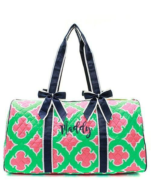 de0d2a7469 Duffle Bag Personalized - Quilted Duffle Bag Monogrammed - Monogram Duffle  Bag for Girls - Colorful Luggage - Best Gift for Girls