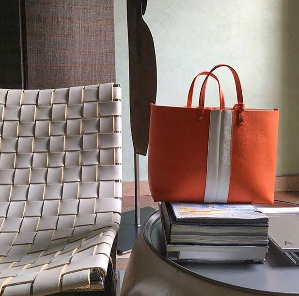 "BORBONESE ""Shopping Bag reversible """