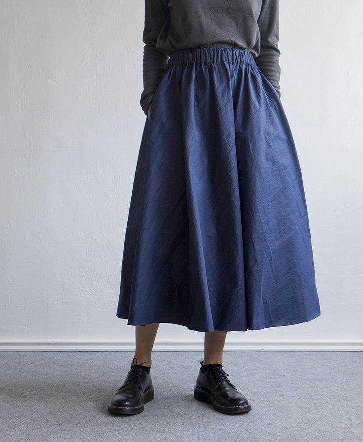 Blue Long Skirt