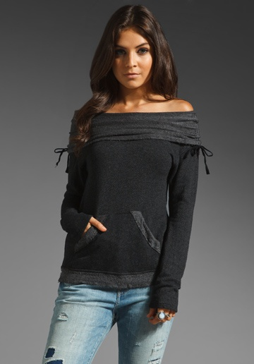 GYPSY 05 Callie Off The Shoulder Sweatshirt in Black at Revolve Clothing - Free Shipping!
