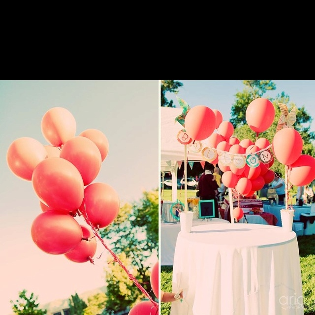 Balloons - vintage inspired wedding decor