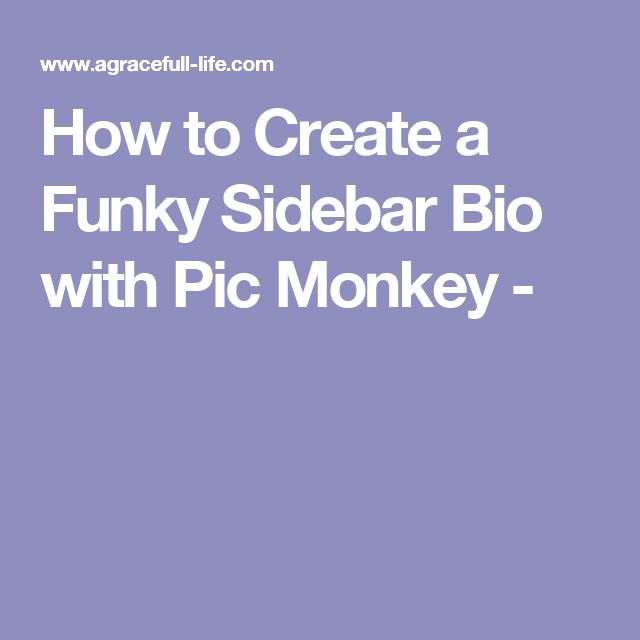How to Create a Funky Sidebar Bio with Pic Monkey -