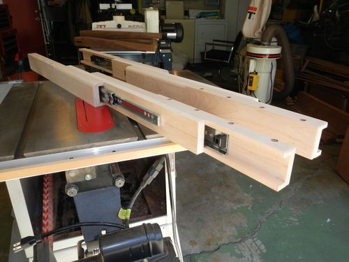 Dining table extension slides - by DaveSJ @ LumberJocks.com ~ woodworking community