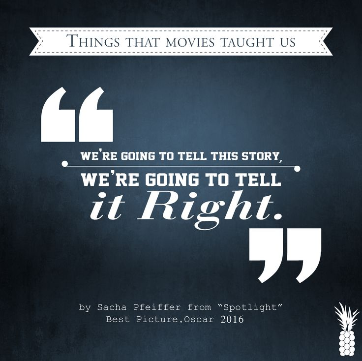 Great movie teachings!  ‪#‎Oscars2016‬ ‪#‎spotlightbestmovieaward‬