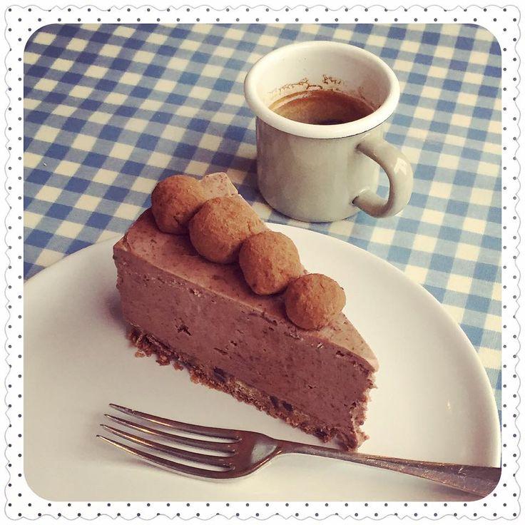 Dark Chocolate & Lime Truffle Cheesecake