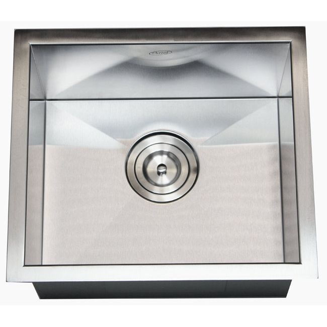 Stainless Steel Single Bowl Zero Radius Undermount Bar Sink With Basket Strainer