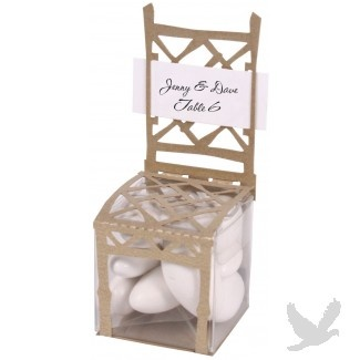 Gold Chair Favor Box/Place Card Holder
