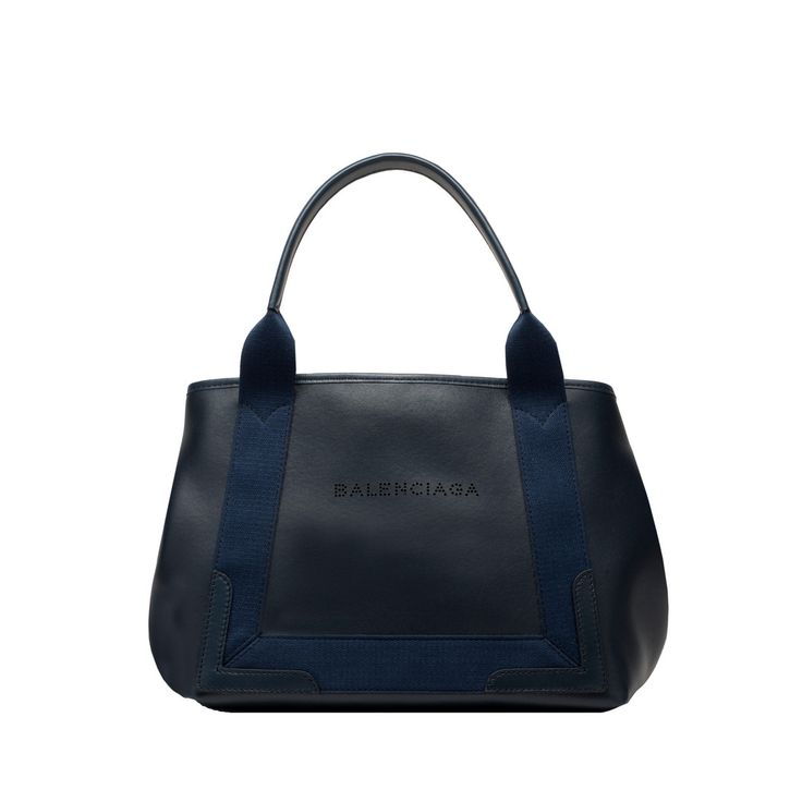 Leather Navy Cabas S