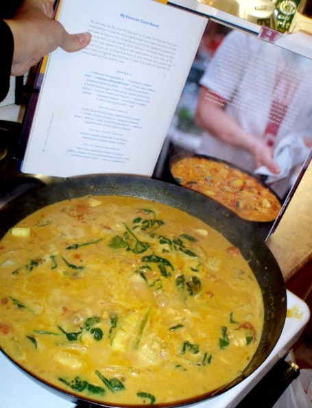 "Jamie Oliver's "" My Favorite Curry"". This really is brilliant , make double & put half in the freezer .."