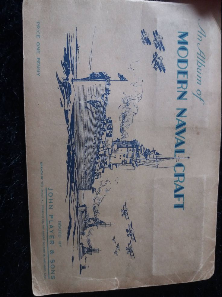 Wow! 1937, Naval/Maritime, Mini, Colour Postcard Album by Dinosaurs2Roses on Etsy