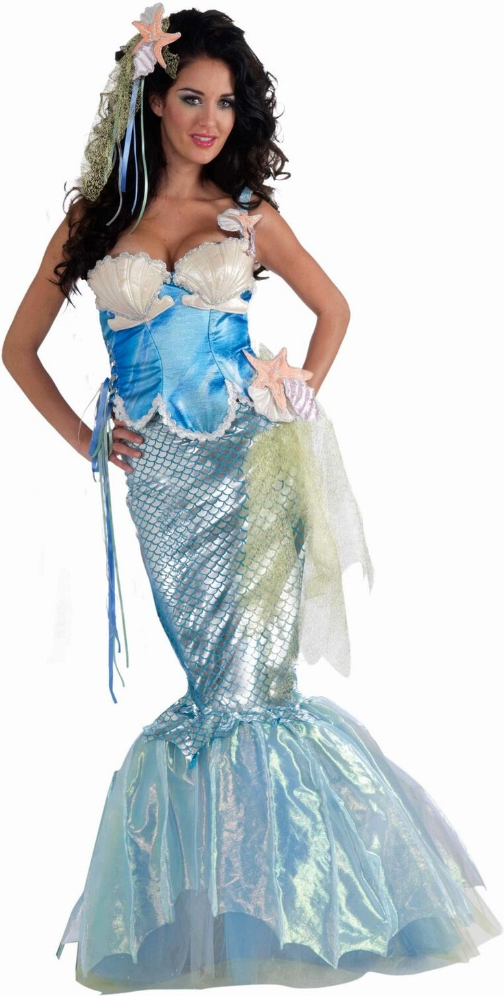 Mermaid Costume Adult Costume Deluxe @Halie Parke ransom this is your Halloween costume for sure!! ;)