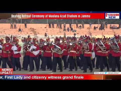 Beating Retreat Ceremony at Maulana Azad Stadium in Jammu