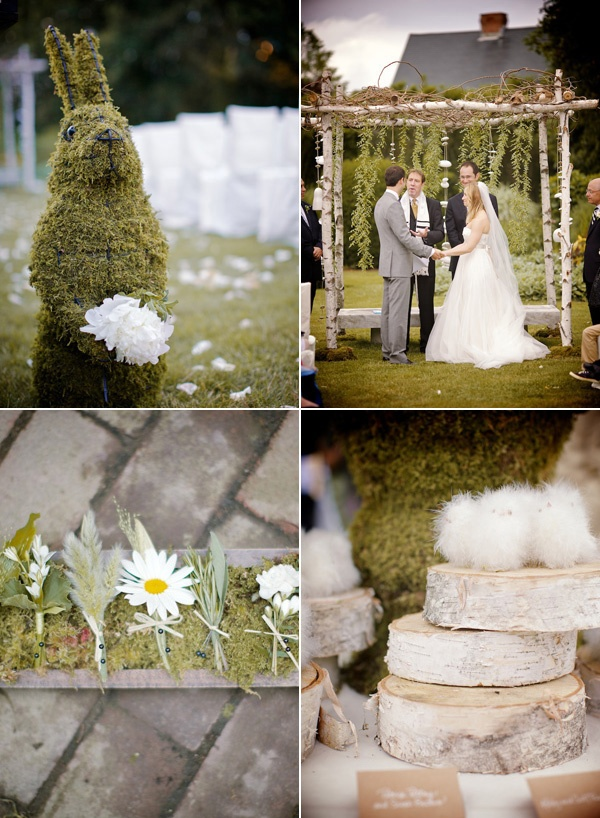 i like that the boutonnieres look like they were just picked randomly that day!