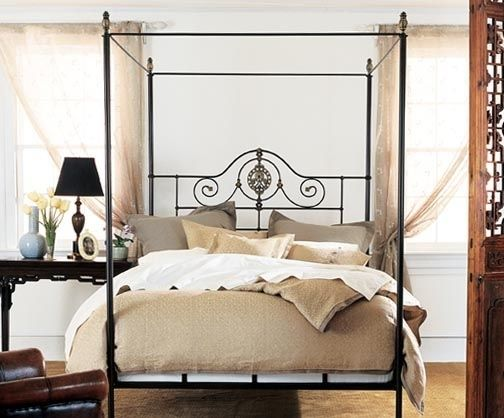 Alexandria Canopy Bed Authentic 19th Century European