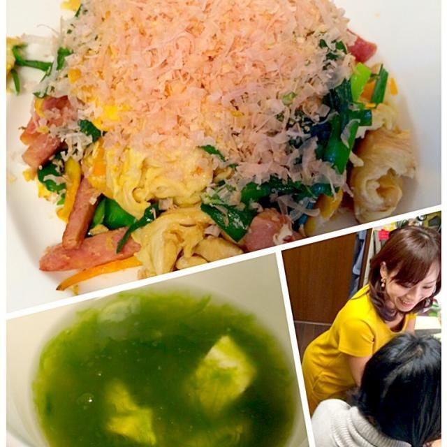 沖縄のお土産沢山持って来てくださり、お料理も作って下さいました(*´艸`) フーチャンプルーは初体験❗️ 作ってる姿にきゅんきゅんとぉっても柔らかくて優しいお味で美味しかったですあおさスープも癒された✨ またお会いできる日を楽しみにしてます お会い出来て嬉しい上に、お料理も食べられるなんて夢みたいでした❗️ ありがとうございます*\(^o^)/* - 59件のもぐもぐ - Delicious dishes by ririkahimeみどりさんの美味しい沖縄お料理の❗ by Ami