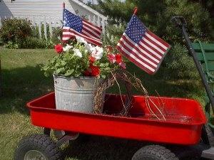 wagon of patriotic pretties