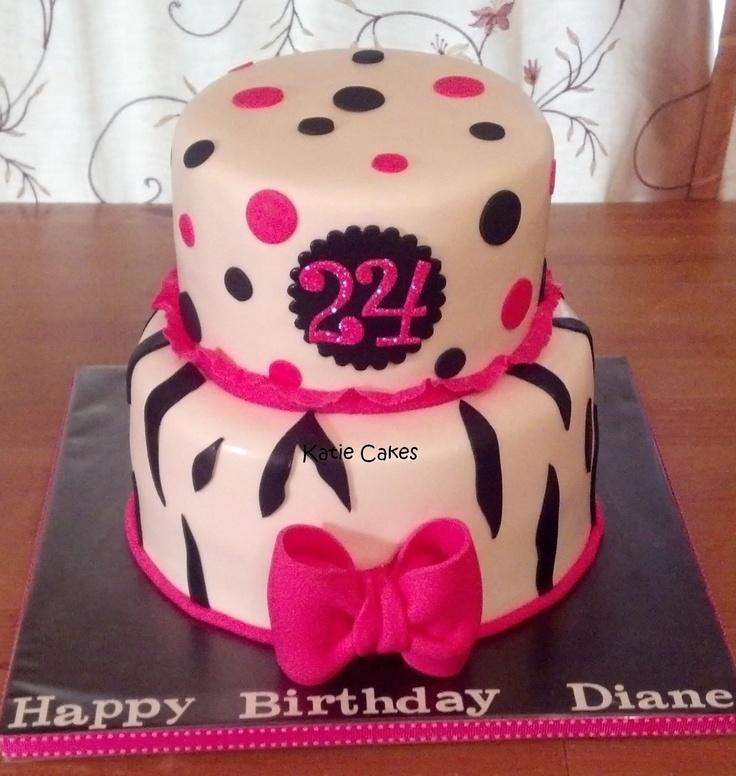 Pink Zebra Cake Designs