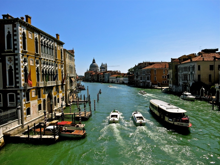 From Ponte dell' Accademia over looking the Canal Grande and Santa Maria della Salute in Venice