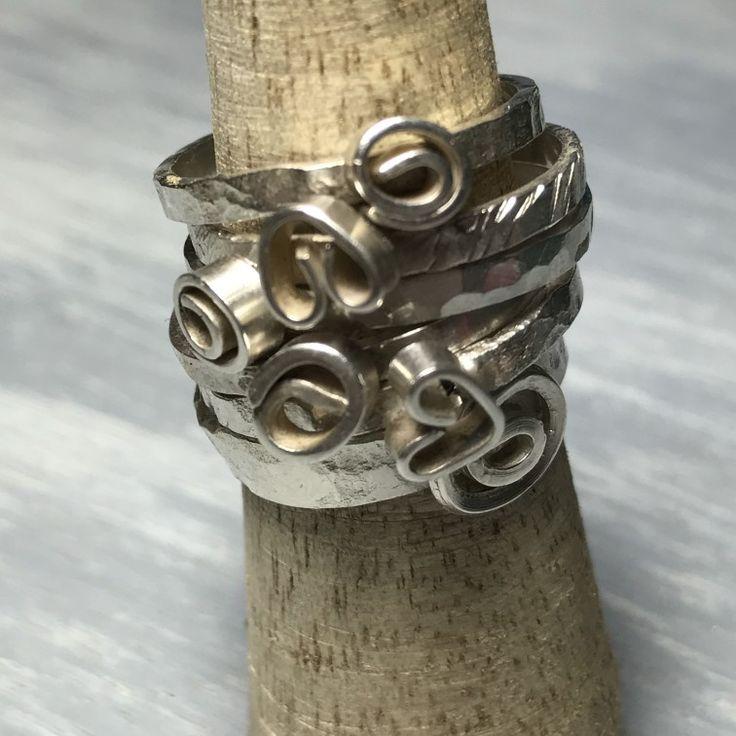 Anillos de plata, joyas de plata