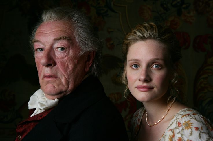 Michael Gambon portrays Mr. Woodhouse and Romola Garai portrays Emma in the 2009 miniseries. Description from pinterest.com. I searched for this on bing.com/images                                                                                                                                                                                 Mais