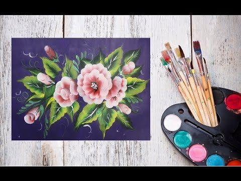 Как нарисовать цветы одним мазком! #Dari_Art #oneStroke - YouTube