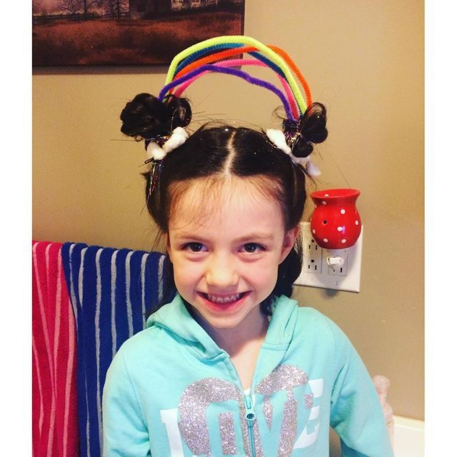 Pin for Later: You've Never Seen Wacky Hair Day Ideas as Crazy as These A Rainbow