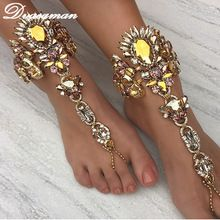 Dvacaman Ankle Bracelet Wedding Barefoot Sandals Beach Foot Jewelry Sexy Leg Chain Female Boho Crystal Anklet Accessories 6115 //FREE Shipping Worldwide //