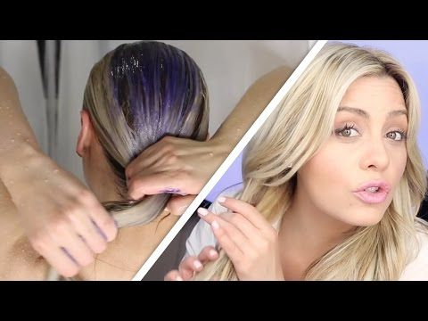 How To Do The Perfect Toning Shampoo Treatment on blonde hair - YouTube  By ellebangs - subscribe to her she is awesome!