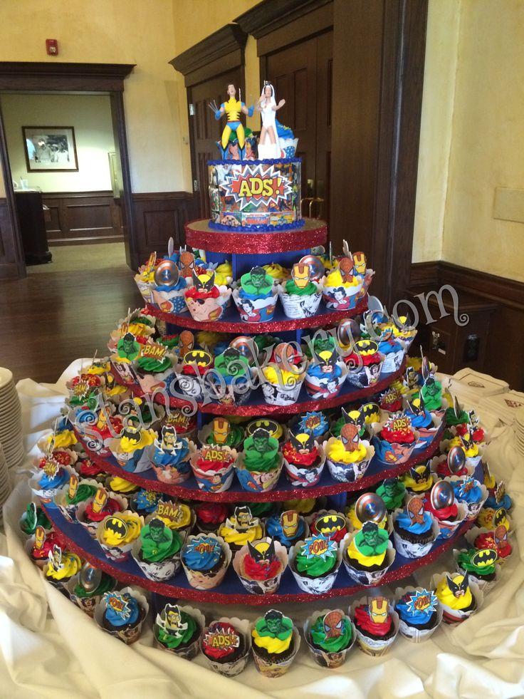 Elegant Super Hero Wedding Cake