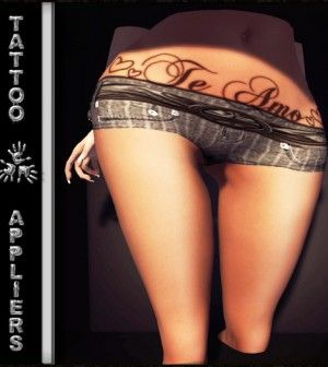 Te Amo Belly Tattoo with Mesh Body Appliers by TAOX TATTOO