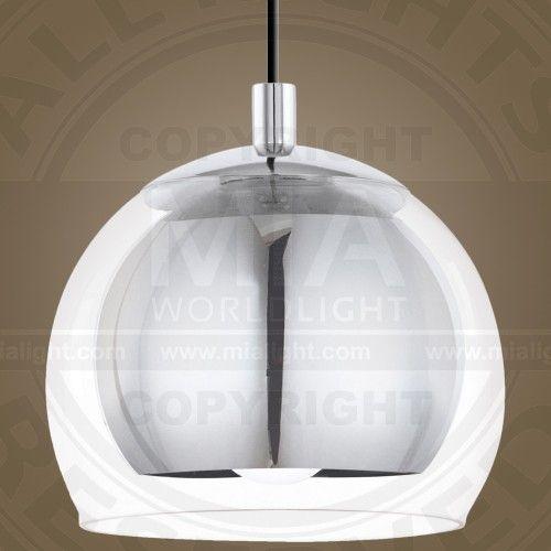 Halb Kugel Hnge Leuchte Modern Chrom Glas Pendel Lampe