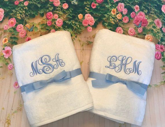 Graduation High School Graduation College Graduation Graduation Gift Graduate Gift Monogrammedtow Monogrammed Bath Monogrammed Bath Towels Monogram Towels