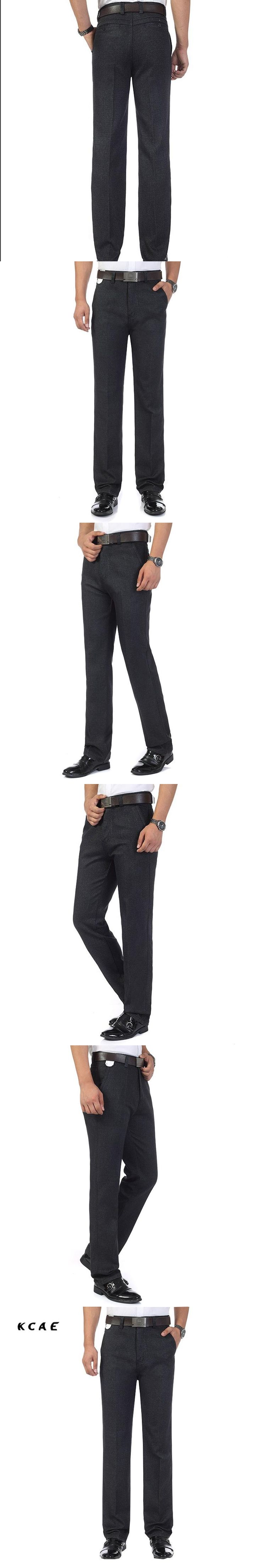 2017 autumn and winter new men's self-cultivation slacks men's business dress straight in the waist long pants Size 35 36 38 40