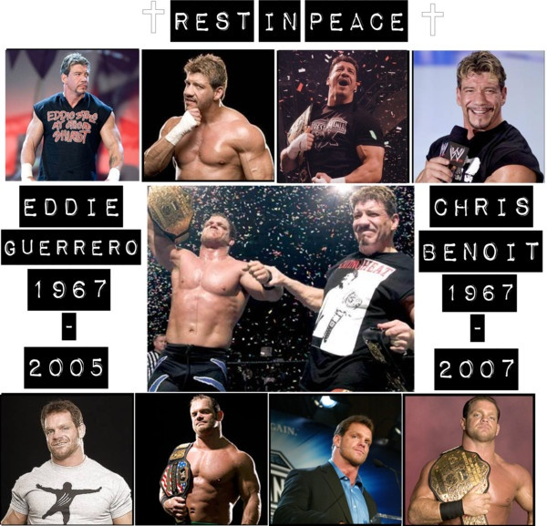 """""""Chris Benoit and Eddie Guerrero."""" by greendayblink182wwe ❤ liked on Polyvore"""