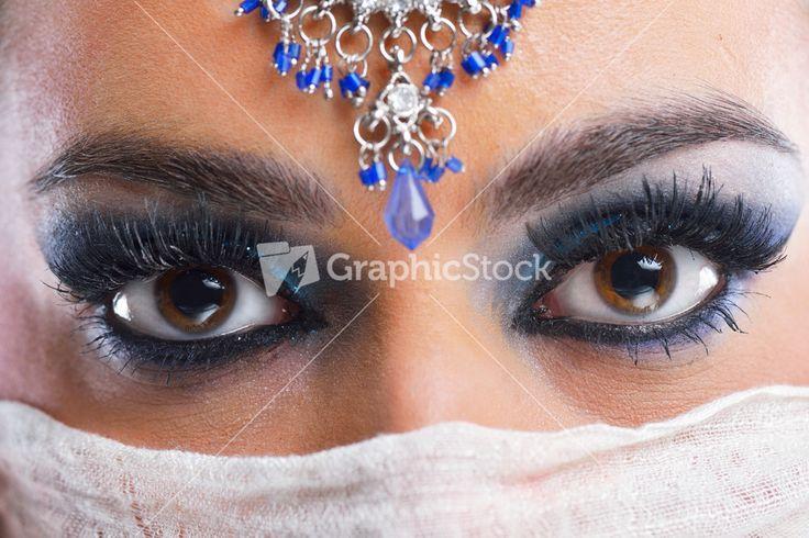 Gyönyörű nő, luxus smink Stock kép