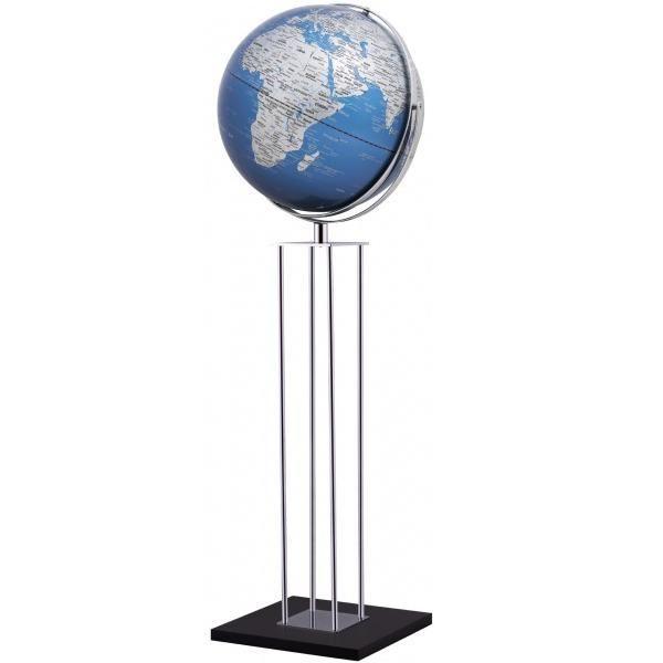 Mappamondo da arredo Mappamondo con piedistallo in alluminio WORLDTROPHY - blu - Impocoweb - Impoco Group: negozio di cartoleria online fornitura di articoli ufficio e scuola, articoli da regalo e pelletteria.