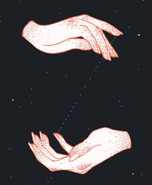 eatsleepdraw: Hands, Stars by Ilana Hope Art